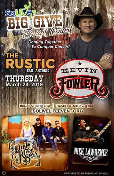 Country concert flyer
